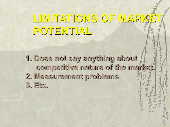LIMITATIONS OF MARKET
