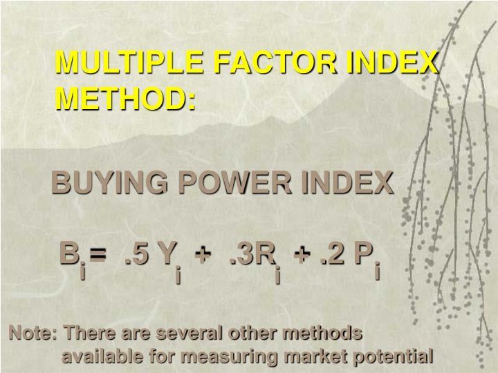 MULTIPLE FACTOR INDEX