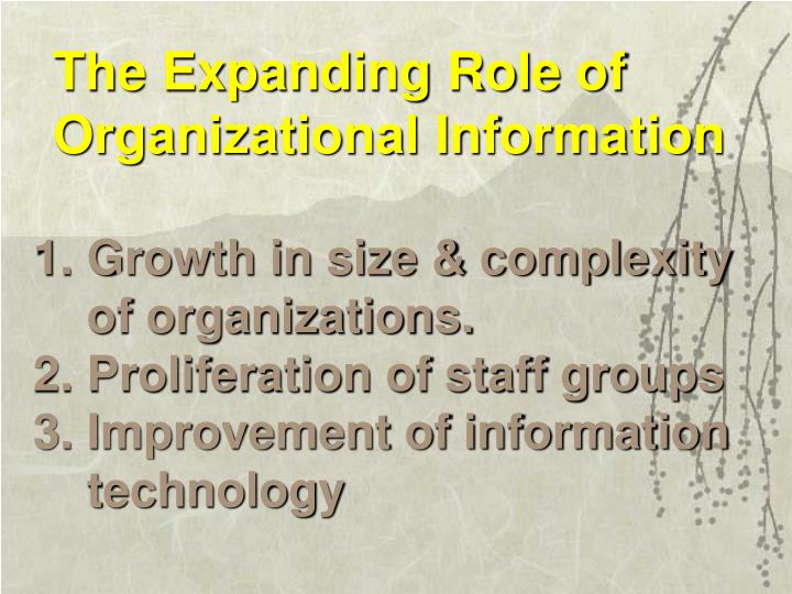 The Expanding Role of