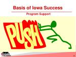 basis of iowa success program support