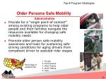 older persons safe mobility administrative