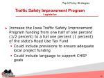 traffic safety improvement program legislative