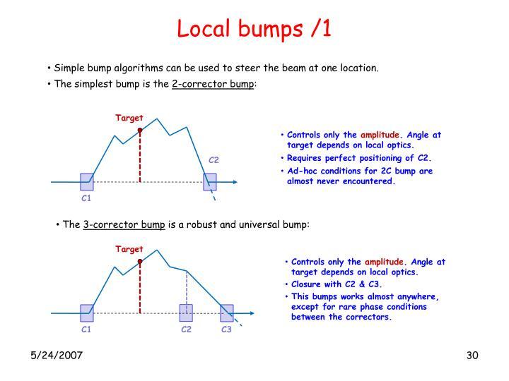 Local bumps /1