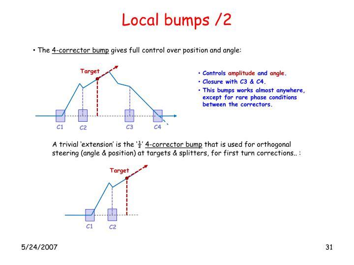 Local bumps /2