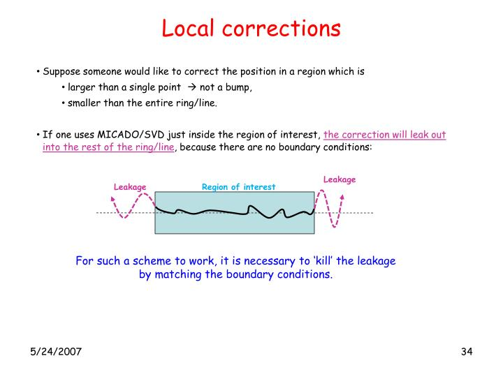 Local corrections