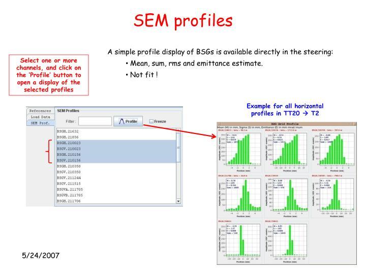 SEM profiles