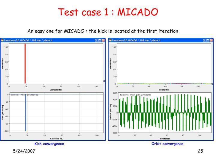 Test case 1 : MICADO