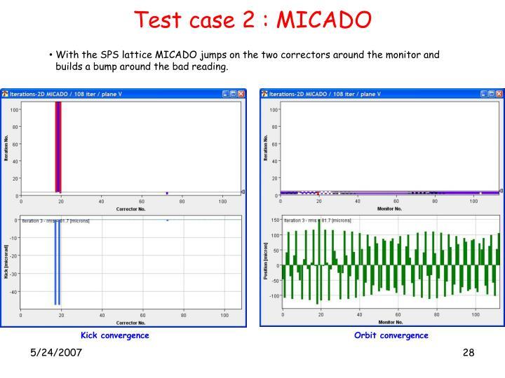 Test case 2 : MICADO