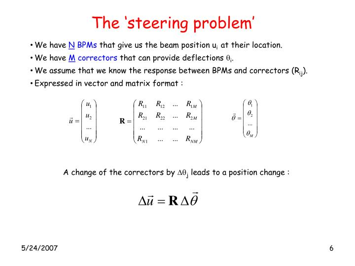 The 'steering problem'