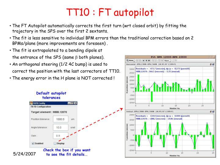 TT10 : FT autopilot