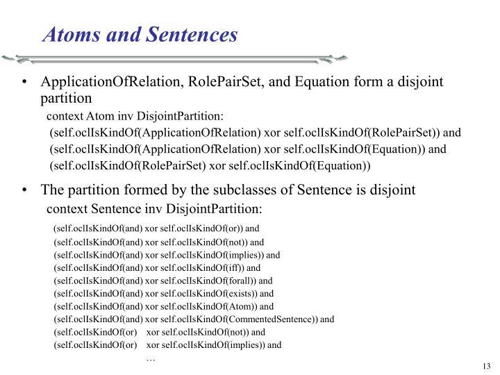 Atoms and Sentences