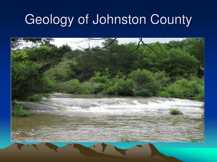 Geology of Johnston County