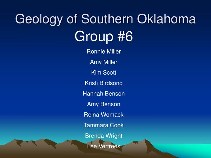 Geology of southern oklahoma