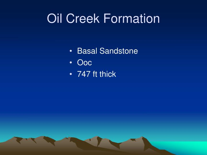 Oil Creek Formation