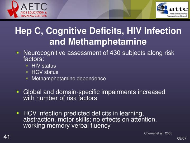 Hep C, Cognitive Deficits, HIV Infection and Methamphetamine
