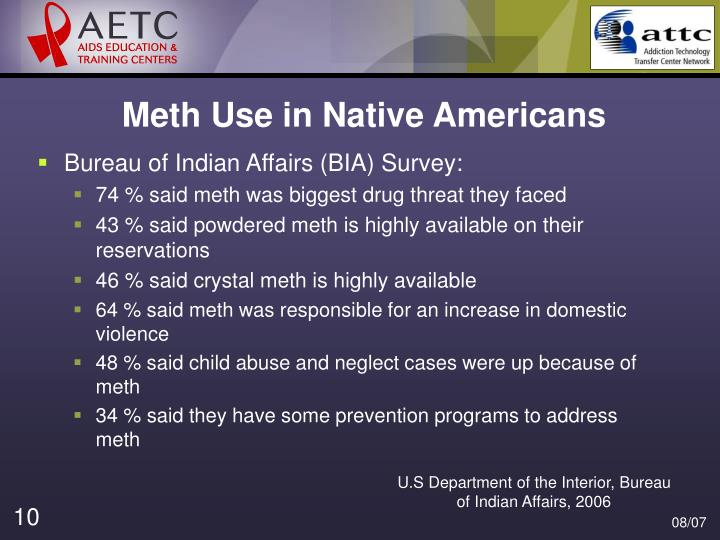 Meth Use in Native Americans