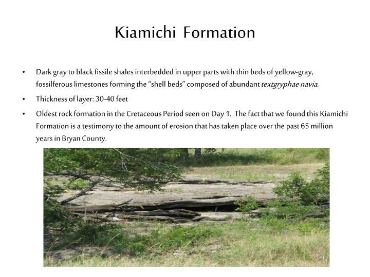 Kiamichi  Formation