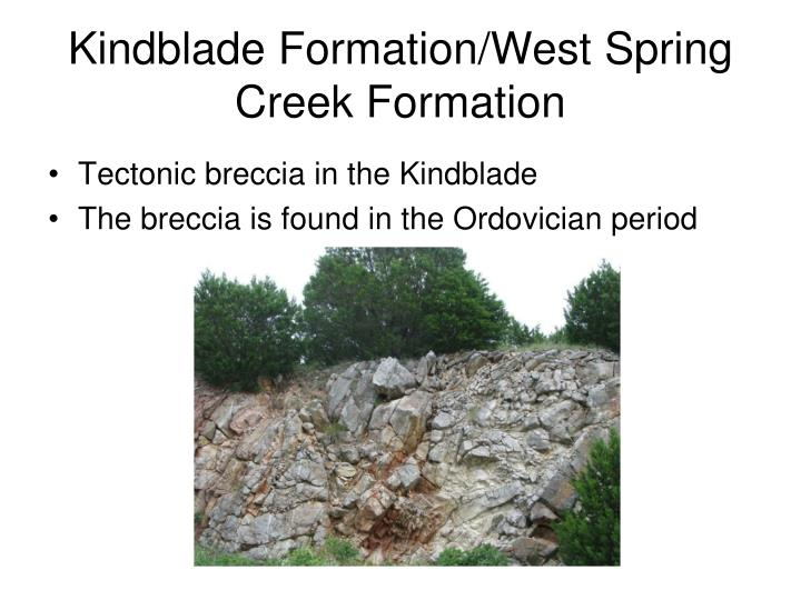 Kindblade Formation/West Spring Creek Formation