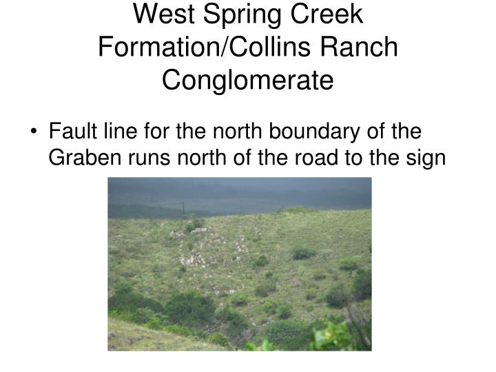 West Spring Creek Formation/Collins Ranch Conglomerate