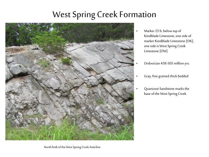 West Spring Creek Formation