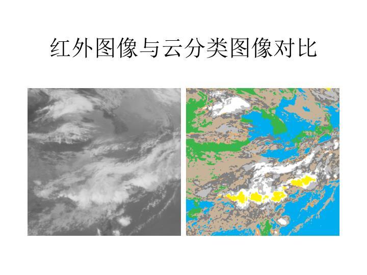 红外图像与云分类图像对比