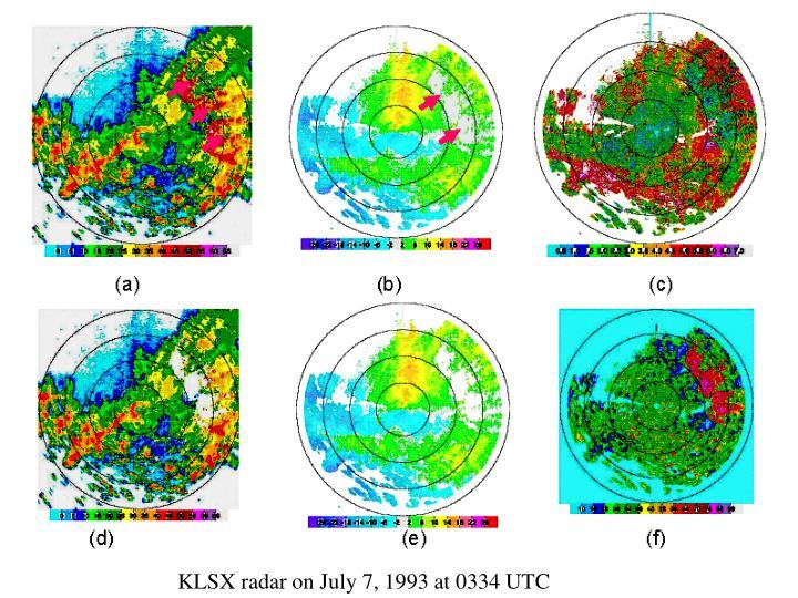 KLSX radar on July 7, 1993 at 0334 UTC