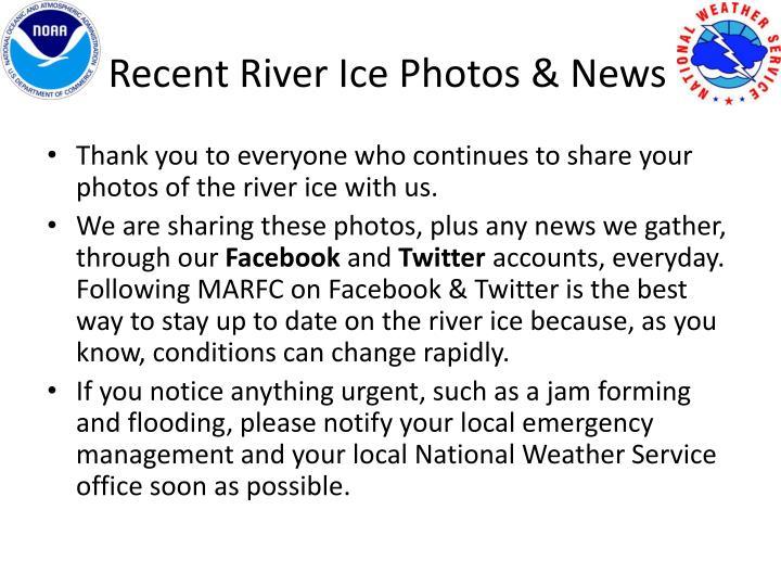 Recent River Ice Photos & News