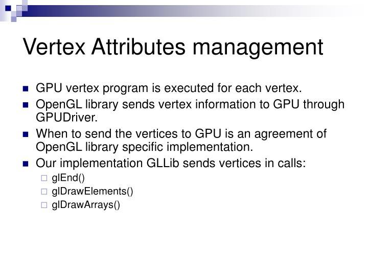 Vertex Attributes management