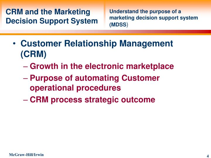 CRM and the Marketing Decision Support System