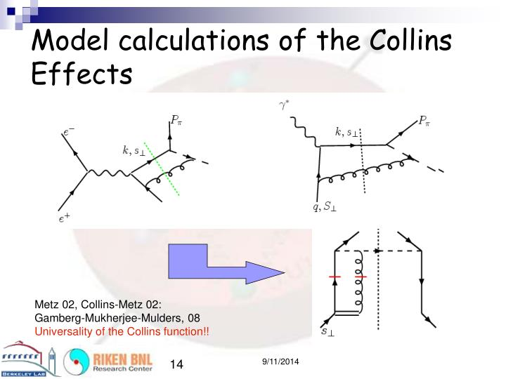 Model calculations of the Collins Effects