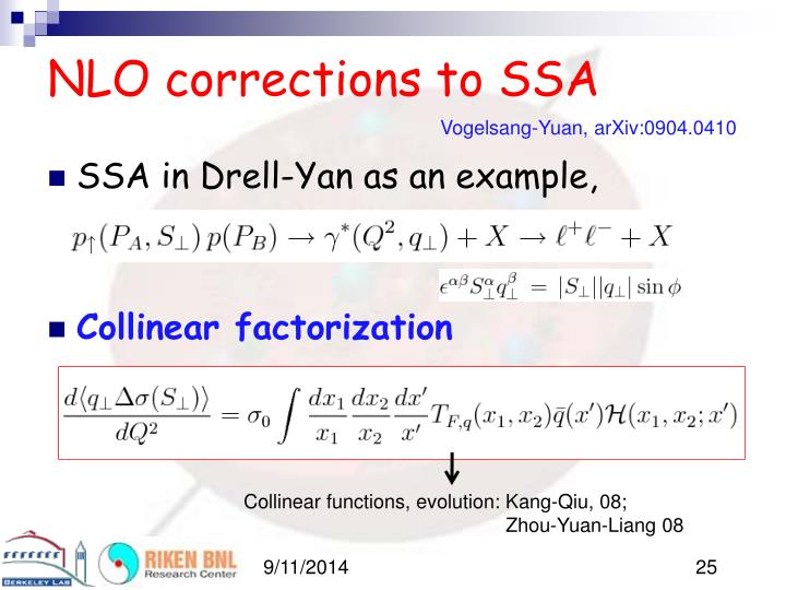 NLO corrections to SSA