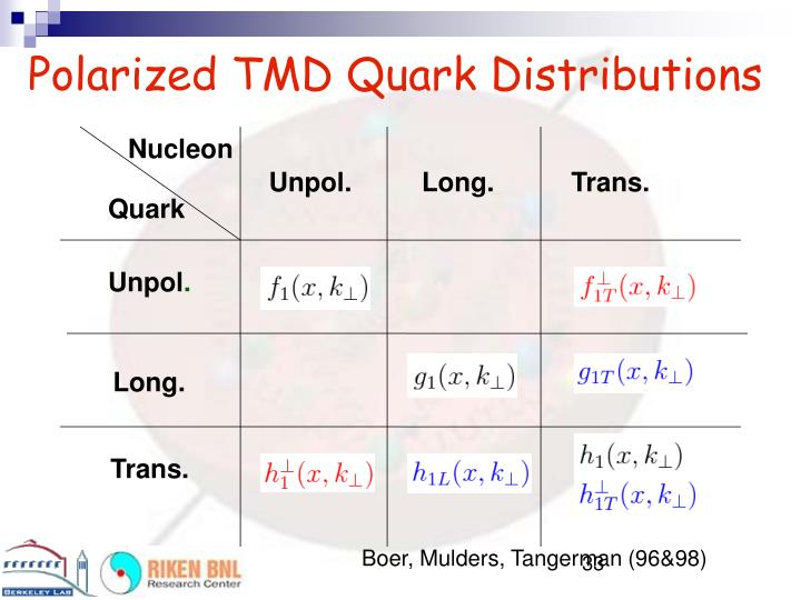 Polarized TMD Quark Distributions