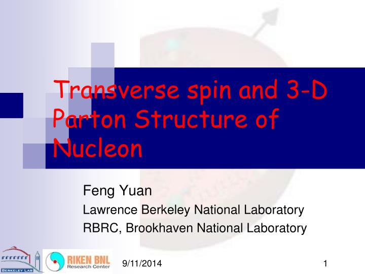 Transverse spin and 3 d parton structure of nucleon