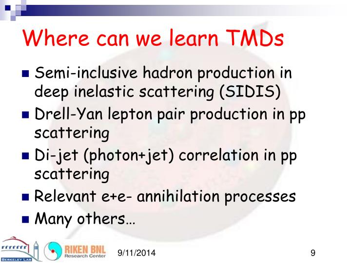 Where can we learn TMDs