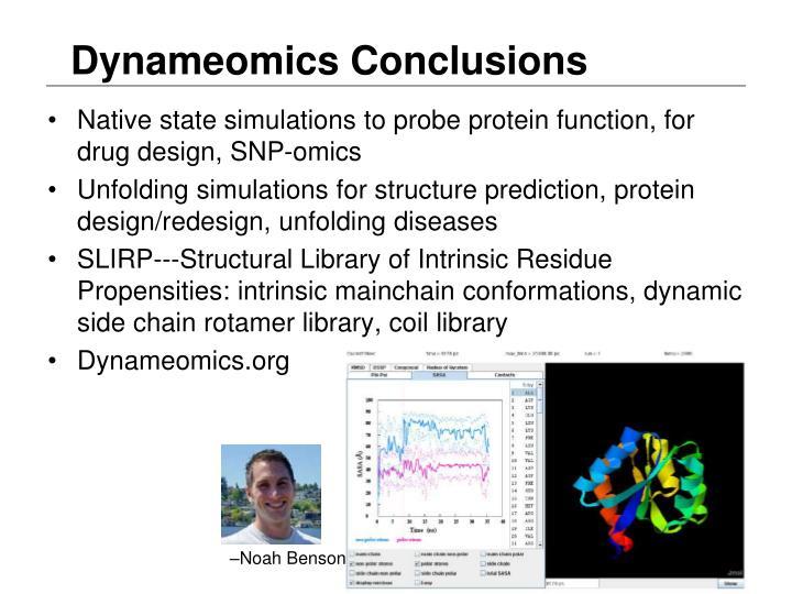 Dynameomics Conclusions