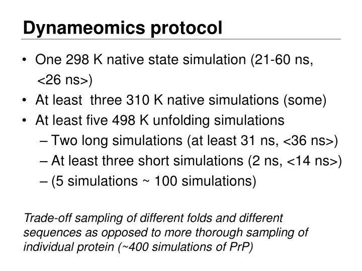 Dynameomics protocol