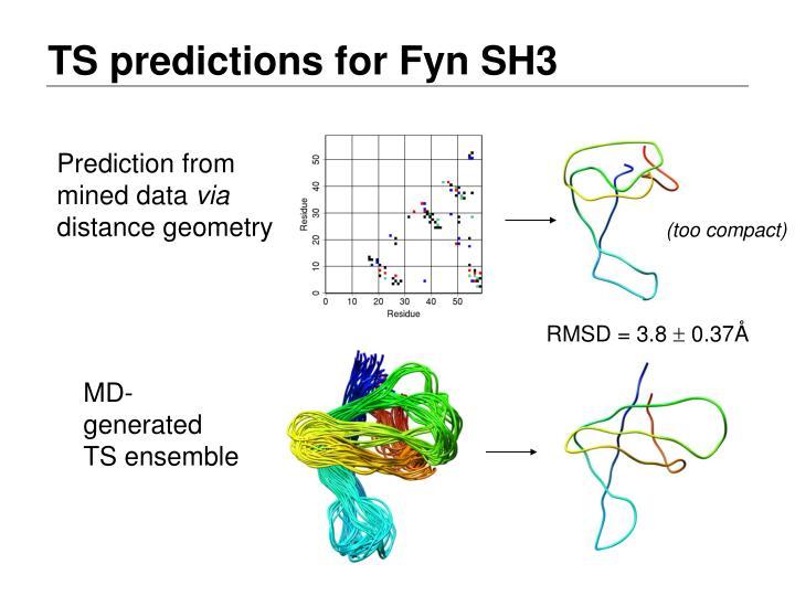 TS predictions for Fyn SH3
