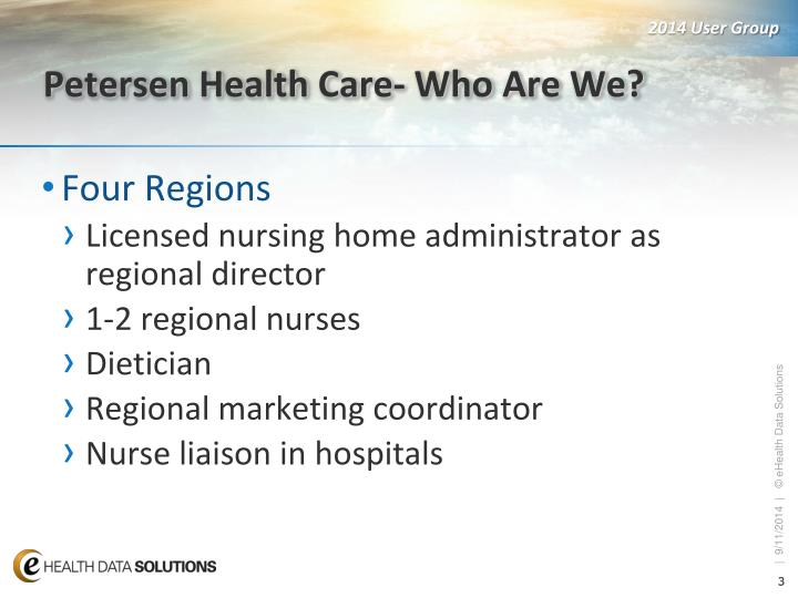 Petersen Health Care- Who Are We?