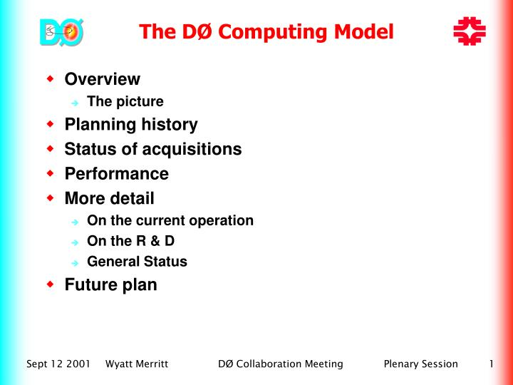 The DØ Computing Model