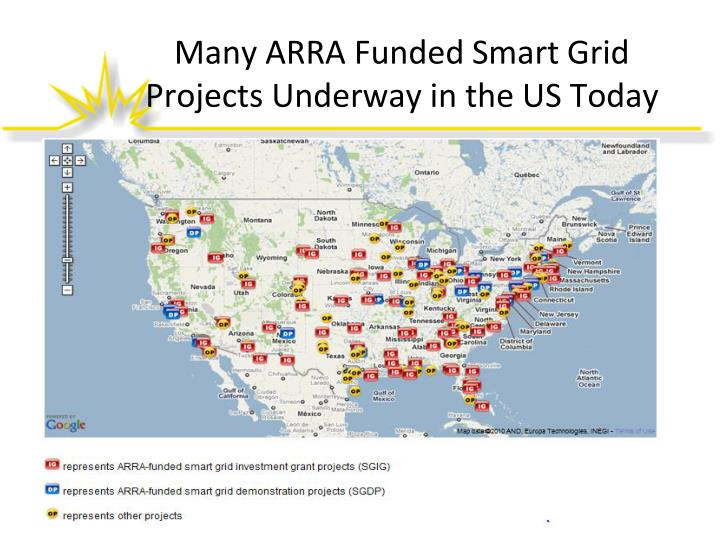Many ARRA Funded Smart Grid Projects Underway in the US Today