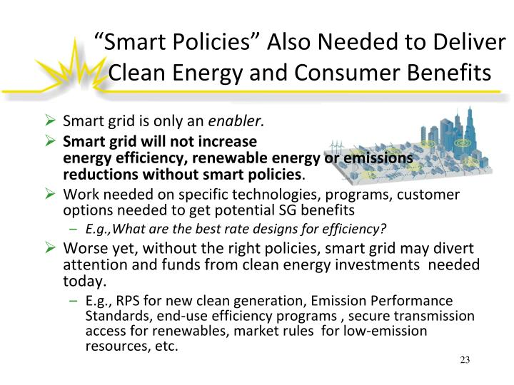 """Smart Policies"" Also Needed to Deliver Clean Energy and Consumer Benefits"