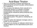 acid base titration