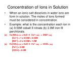 concentration of ions in solution