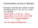 concentration of ions in solution1