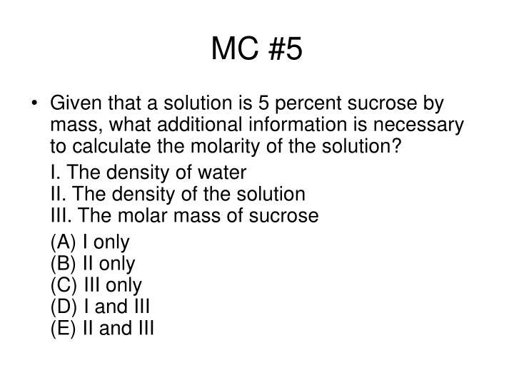 MC #5