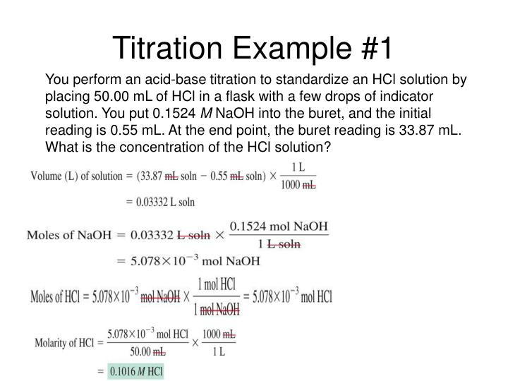 Titration Example #1