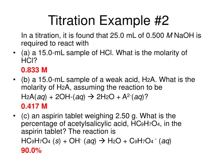 Titration Example #2