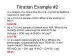 titration example 2