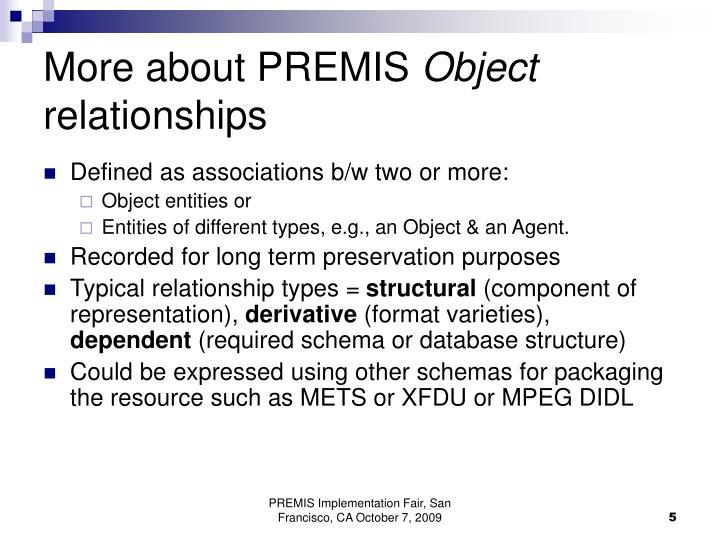 More about PREMIS