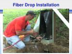 fiber drop installation